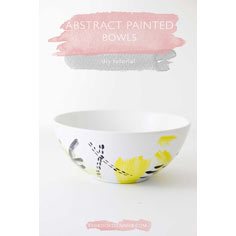 Abstract Painted Bowls