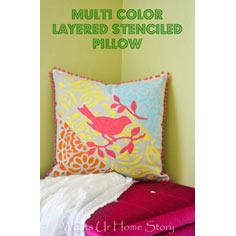 Layered Stenciled Pillow