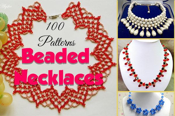 beaded necklaces at CraftFreebies.com